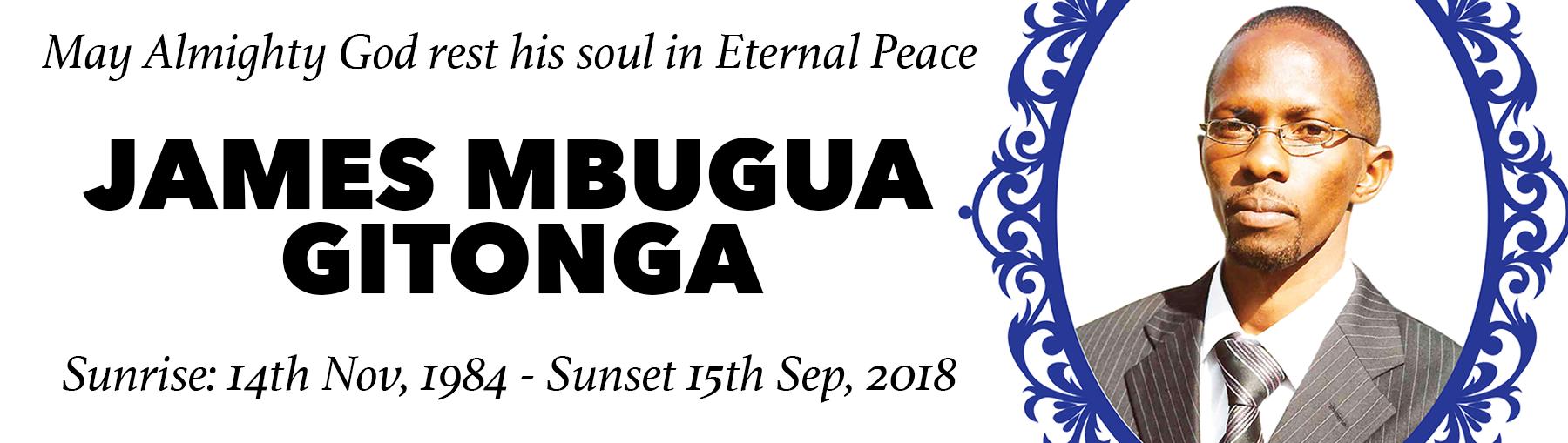 JAMES MBUGUA GITONGA